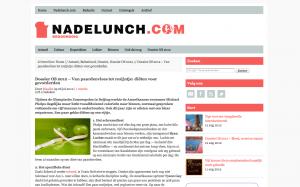 NDL Dossier OS 2012 – Van paardenvlees tot rozijntje: diëten voor gevorderden