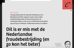 Dit is er mis met de Nederlandse fraudebestrijding